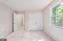 Bedroom upper level facing back w/ ample closet. - 35 GREEN LEAF TER, STAFFORD