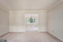 View from living room to formal dining room. - 35 GREEN LEAF TER, STAFFORD