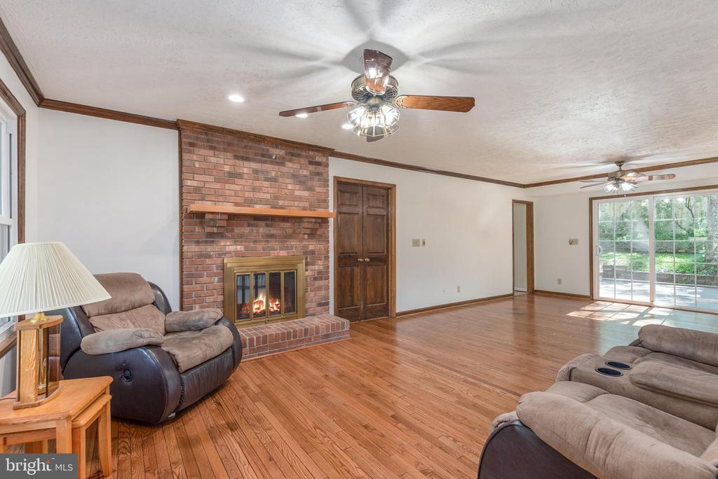 2 sided fireplace located in family and master bed - 35 GREEN LEAF TER, STAFFORD