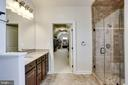 Master Bath looking into walk-in closet - 42394 MADTURKEY RUN PL, CHANTILLY