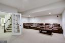 Lower Level Media Room - 42394 MADTURKEY RUN PL, CHANTILLY