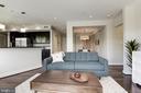 Living room/Kitchen - 2702 LEE HWY #2B, ARLINGTON