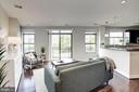 Living room with large balcony! - 2702 LEE HWY #2B, ARLINGTON