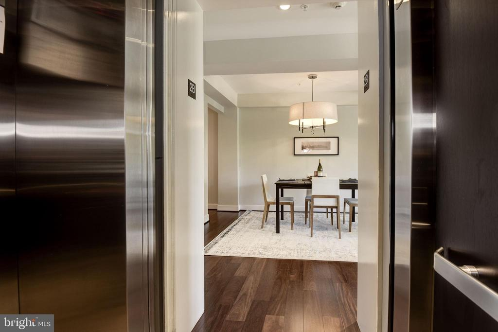 Private elevator opening to unit! - 2702 LEE HWY #2B, ARLINGTON