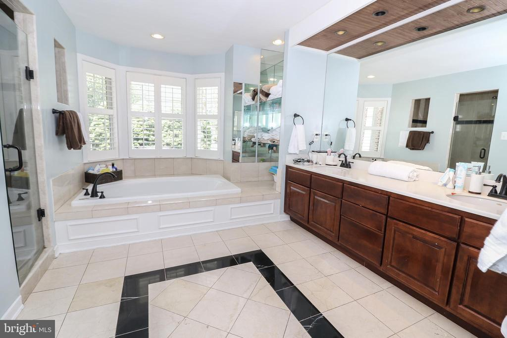 Master bath with separate tub and shower - 20456 TAPPAHANNOCK PL, STERLING