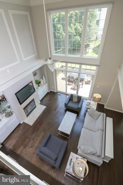 View of family room from above - 20456 TAPPAHANNOCK PL, STERLING