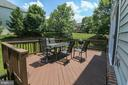 Deck  with stairs to rear yard - 20456 TAPPAHANNOCK PL, STERLING