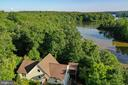 Aerial view towards Lake Anna - 15012 DOVEY RD, SPOTSYLVANIA