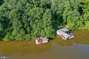 Aerial view of boat dock - 15012 DOVEY RD, SPOTSYLVANIA