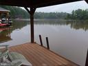 View from covered dock towards main lake - 15012 DOVEY RD, SPOTSYLVANIA