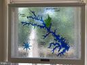 Stained glass map of lake Anna - 15012 DOVEY RD, SPOTSYLVANIA