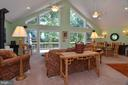 Great Room with soaring windows with natural light - 15012 DOVEY RD, SPOTSYLVANIA