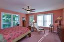 Main level Master Bedroom with private porch - 15012 DOVEY RD, SPOTSYLVANIA