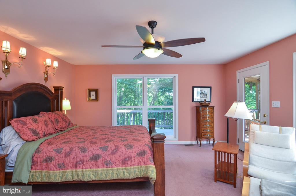 View of Lake from the Master Bedroom - 15012 DOVEY RD, SPOTSYLVANIA