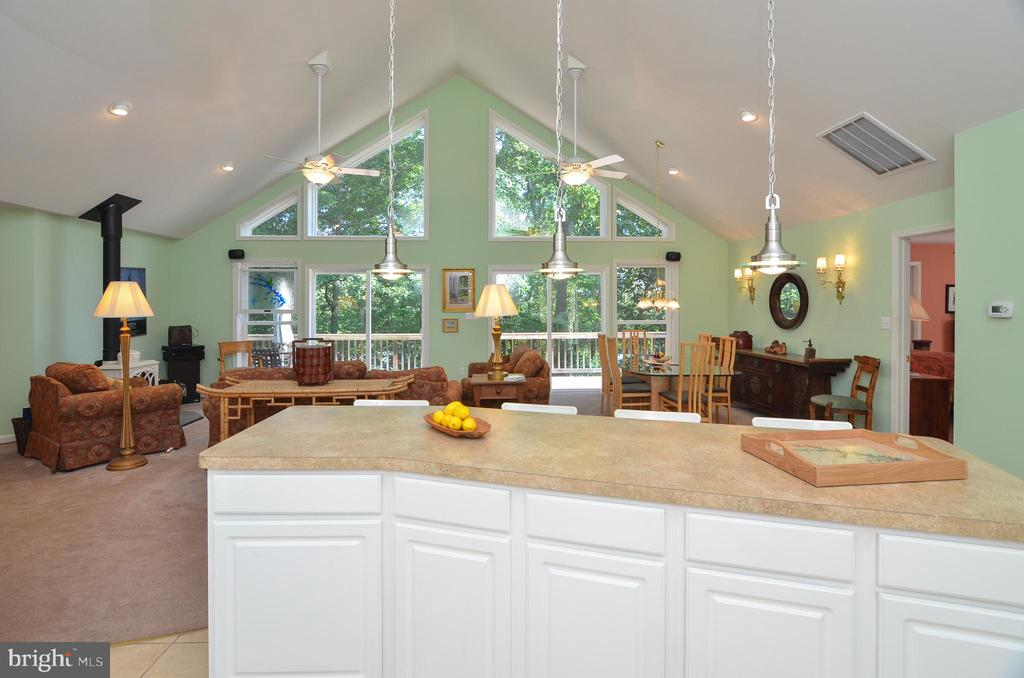 View from kitchen to Great Room - 15012 DOVEY RD, SPOTSYLVANIA