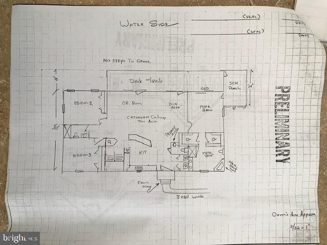First floor sketch - 15012 DOVEY RD, SPOTSYLVANIA