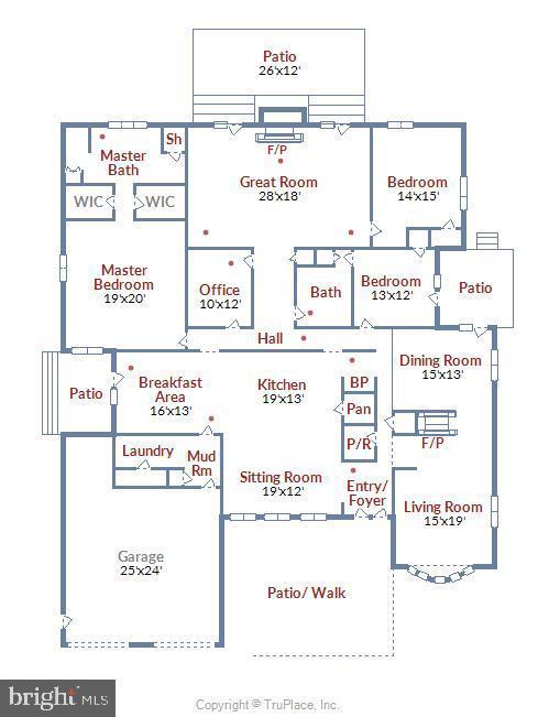 1 Level Floor Plan - 5916 HALLOWING DR, LORTON