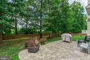 Fenced backyard with Patio - 25969 DONOVAN DR, CHANTILLY