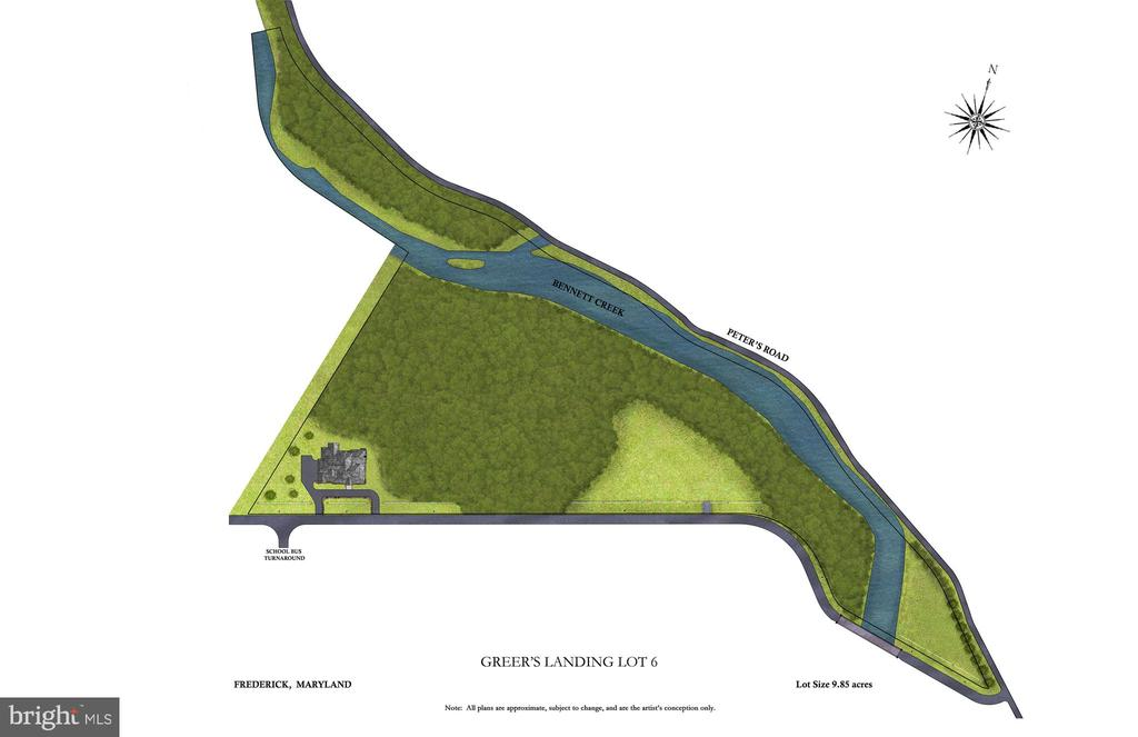 Site Plan of The Lot - 8187 PETERS RD, FREDERICK