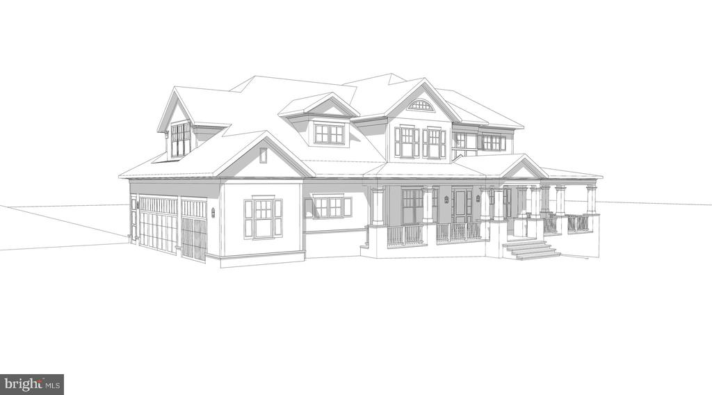 Front Right Corner Architect Rendering - 8187 PETERS RD, FREDERICK