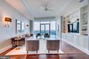 Custom Built-ins in Living Room - 1881 N NASH ST #PH08, ARLINGTON