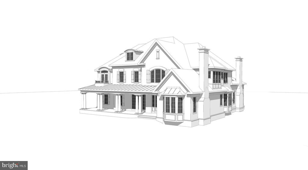 Architect's Front Angle Elevation - 8183 PETERS RD, FREDERICK