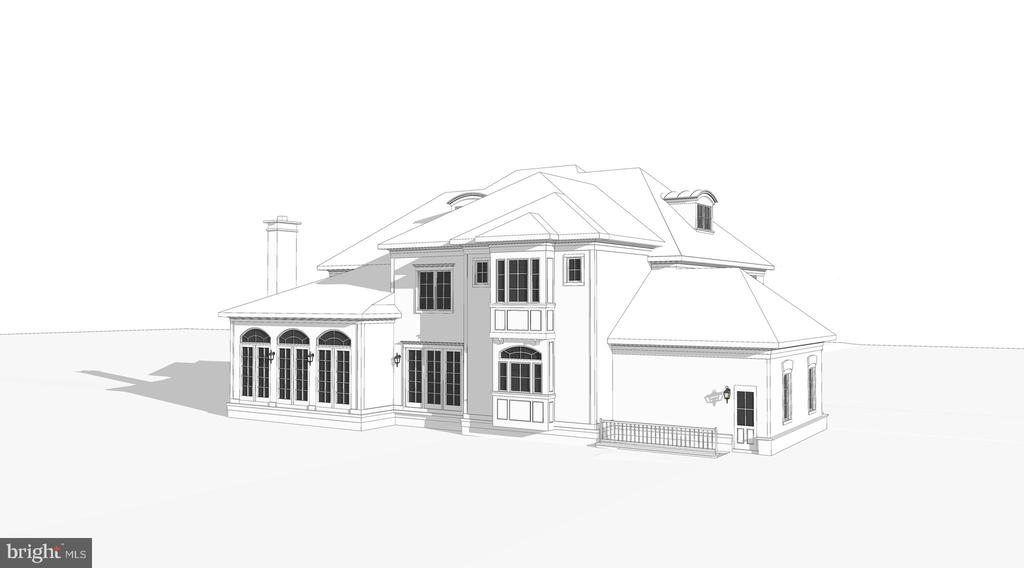 Architect's Rear Angle Elevation - 8183 PETERS RD, FREDERICK