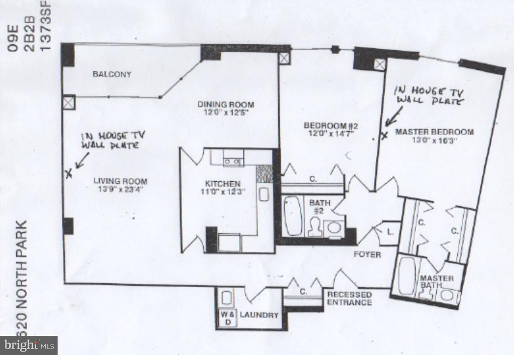 Floor Plan - 4620 N PARK AVE #1109E, CHEVY CHASE