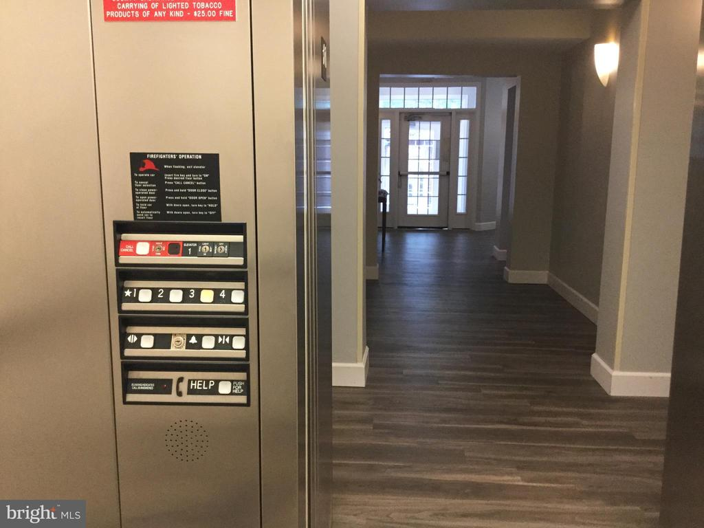 View from Elevator at Front Entrance - 11506 SPERRIN CIR #305, FAIRFAX
