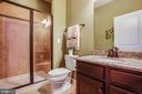 Full bath for the main floor bedroom - 20 GENEVIEVE CT, FREDERICKSBURG