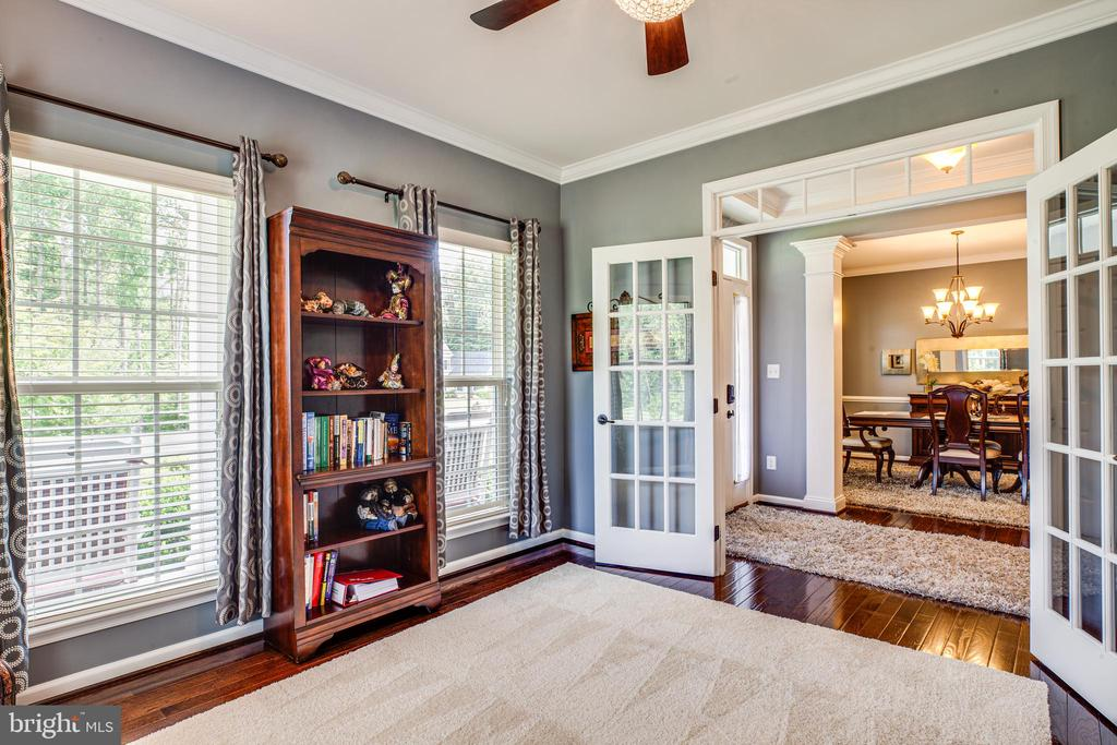 Close off the french doors for extra privacy - 20 GENEVIEVE CT, FREDERICKSBURG