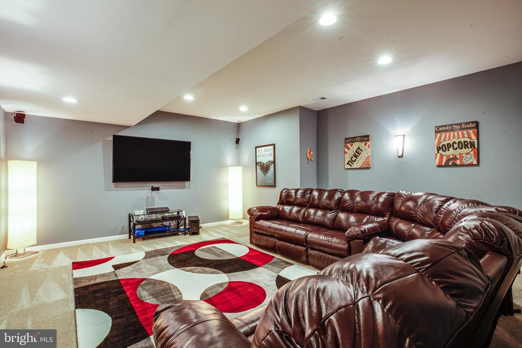 Media room for your favorite movies - 20 GENEVIEVE CT, FREDERICKSBURG