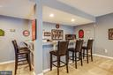 Casual entertaining in the lower level - 20 GENEVIEVE CT, FREDERICKSBURG
