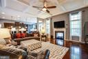 Huge family room with two sided fireplace - 20 GENEVIEVE CT, FREDERICKSBURG
