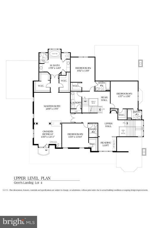 Upper Level Floor Plan - 8183 PETERS RD, FREDERICK