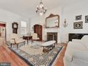 Over 11' ceiling height in living room! - 121 W 2ND ST, FREDERICK