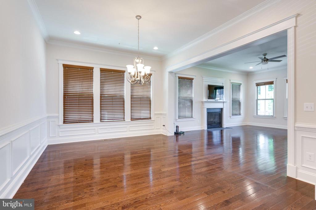 Dining Room, hardwood flooring, recessed lighting - 2192 POTOMAC RIVER BLVD, DUMFRIES
