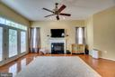 Family Room With Fireplace - 17530 LETHRIDGE CIR, ROUND HILL