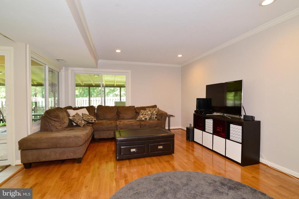Sunny family room with crown molding - 102 FARMINGTON CT, STERLING