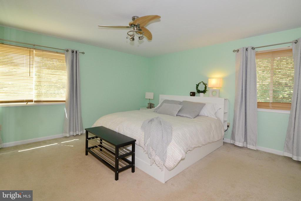 Beautiful corner master bedroom gets lots of light - 102 FARMINGTON CT, STERLING