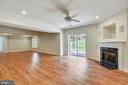 Huge rec room  with gas fireplace - 8500 IDYLWOOD VALLEY PL, VIENNA