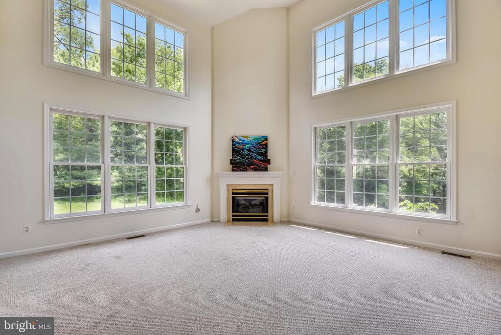 Huge Family room with walls of windows - 8500 IDYLWOOD VALLEY PL, VIENNA