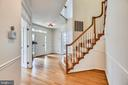 Hallway to formal areas and family room - 8500 IDYLWOOD VALLEY PL, VIENNA