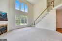 Rear staircase to bedroom level - 8500 IDYLWOOD VALLEY PL, VIENNA
