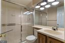 Full bath in lower level - 6806 HATHAWAY ST, SPRINGFIELD