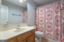 Hall bath on upper level - 6806 HATHAWAY ST, SPRINGFIELD