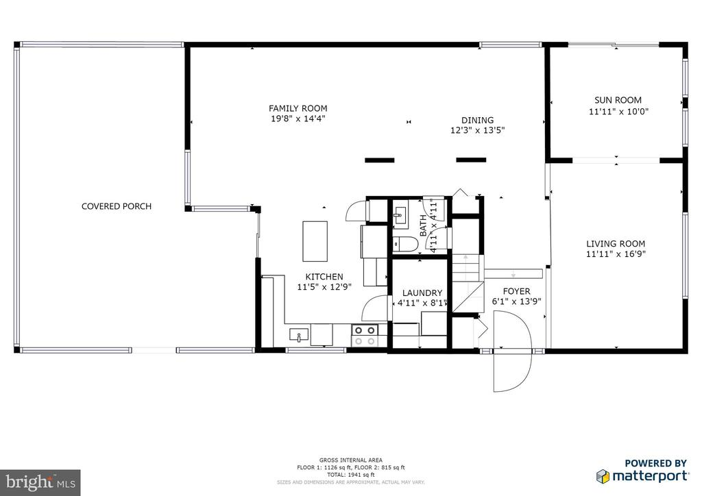 Main Level Floorplan - 102 FARMINGTON CT, STERLING