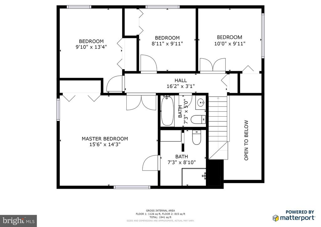 Second Level Floorplan - 102 FARMINGTON CT, STERLING