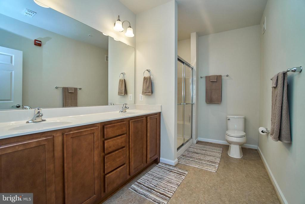 Dual sinks and stall shower in the master - 20630 HOPE SPRING TER #103, ASHBURN
