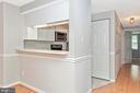 Kitchen with Pass-Through Window - 809-D STRATFORD WAY #1400D, FREDERICK